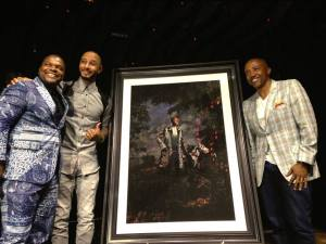 Music Mogul Kevin Liles was out to support Swizz Beats, as he was crowned Grey Goose Le Melon King of Music, artist Kehinde Wiley unveiled his work.