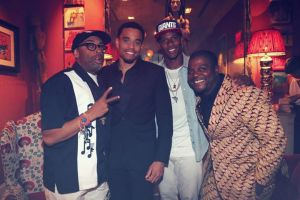 Spike Lee Michael Ealy Victor Cruz and Artist Kehinde Wiley