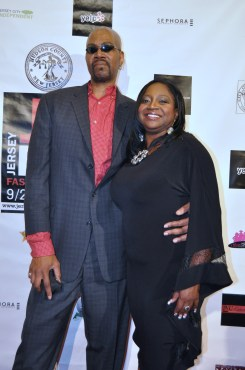 September 26 2013 Celebrity Designer Franklin Rowe with JCFW Founder Desha L Jackson at JCFW Super Celebration in Liberty National Golf Course